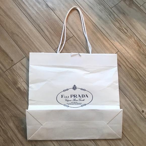 5498803d8aaa Prada Bags | Paper Shopping Bag | Poshmark